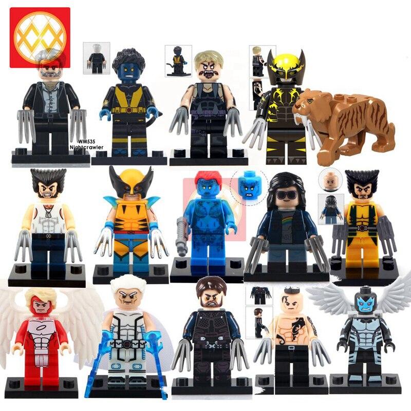 Lego Quicksilver Marvel Superhero Mini Action Figure Toy X-Men Mutant Wolverine