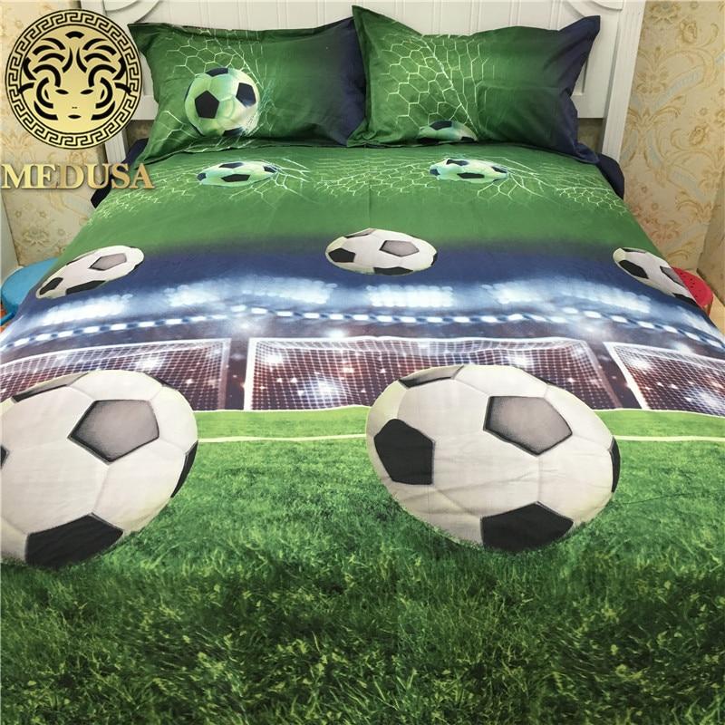 3d soccer field bedding set double bed queen size bed linen set