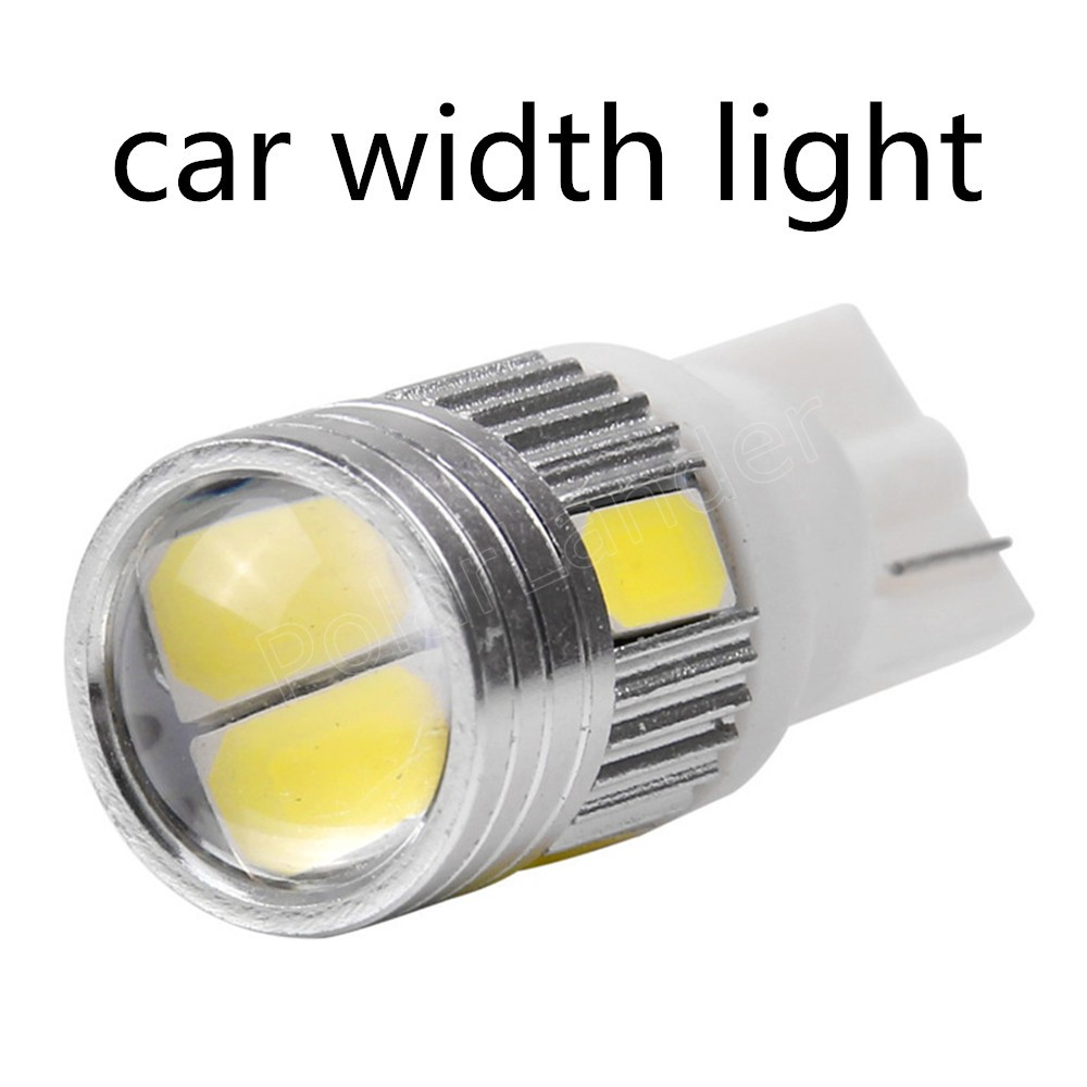 10 pcs/lot T10 194 5630 LED 6SMD White Car Auto Width Light Lamp 12V LED Light Bulb high quality hot sale