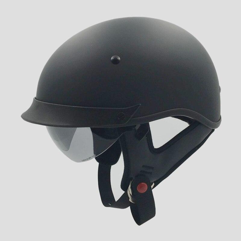 VCOROS Vintage Half Face Motorcycle Helmet Casco Casque Moto Harley Retro Helmets With Inner Sun Visor DOT S M L XL XXL
