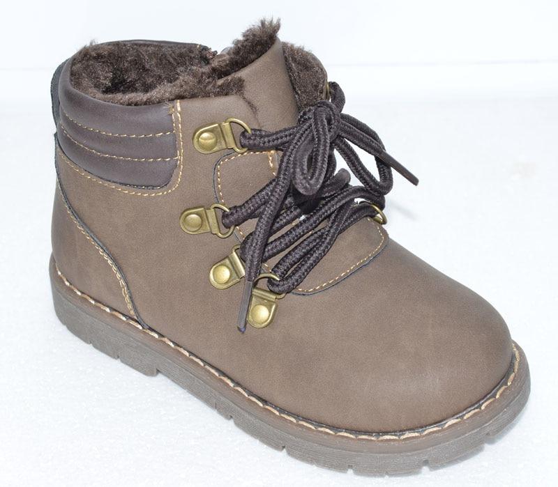 2017 New boys boots children winter shoes warm chaussure petit sapato menino hard toe&heel