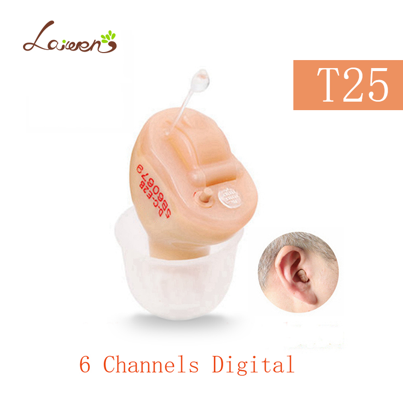 T25 Fashion mini 6 Channels Digital Invisible Hearing Aids Elderly portable sound amplifier wish hearing aid Dropshipping