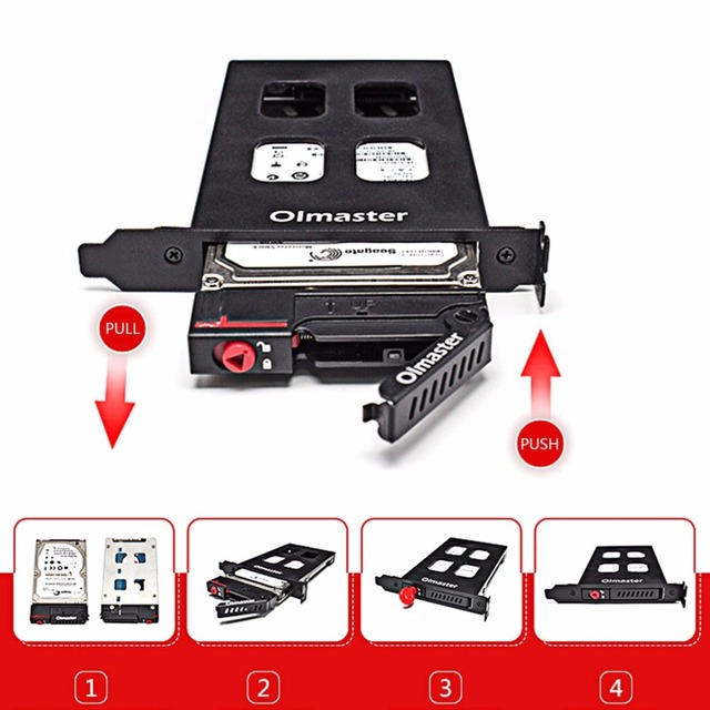 Olmaster Metal Structure HDD Case HDD Enclosure Tool Hard Drive Enclosure 6Gbps For 7 ~ 9.5mm 2.5 Inch SATA SSD Hard Drive 1