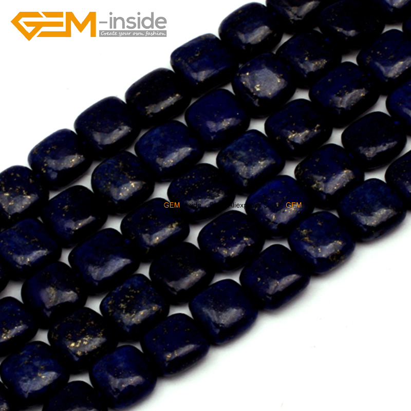 Square Lapis Lazuli Stone Beads For Jewelry Making Dyed Color 10mm 15inches DIY Jewellery Necklace FreeShipping Wholesale Gem