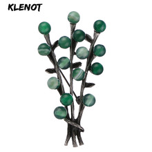 Elegant Flower Brooch Pins and Brooches for Women Antique Silver Plant Tree Brooch Natural Stone Material Scarf Clothes Jewelry stone brooch flower pins and brooches for women jewelry ancient silver flower brooch natural gemstone craft material scarf pins