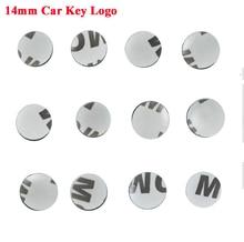 500 pièces/lot 14mm diamètre voiture clé emblème badge voiture clé logos pour pliage rabat télécommande clé coquille autocollant