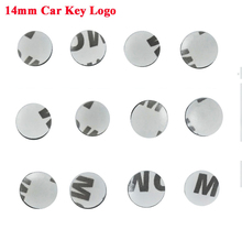 500 unids/lote 14mm de diámetro emblema de la llave del coche insignia logos para plegable funda de control remoto plegable pegatina
