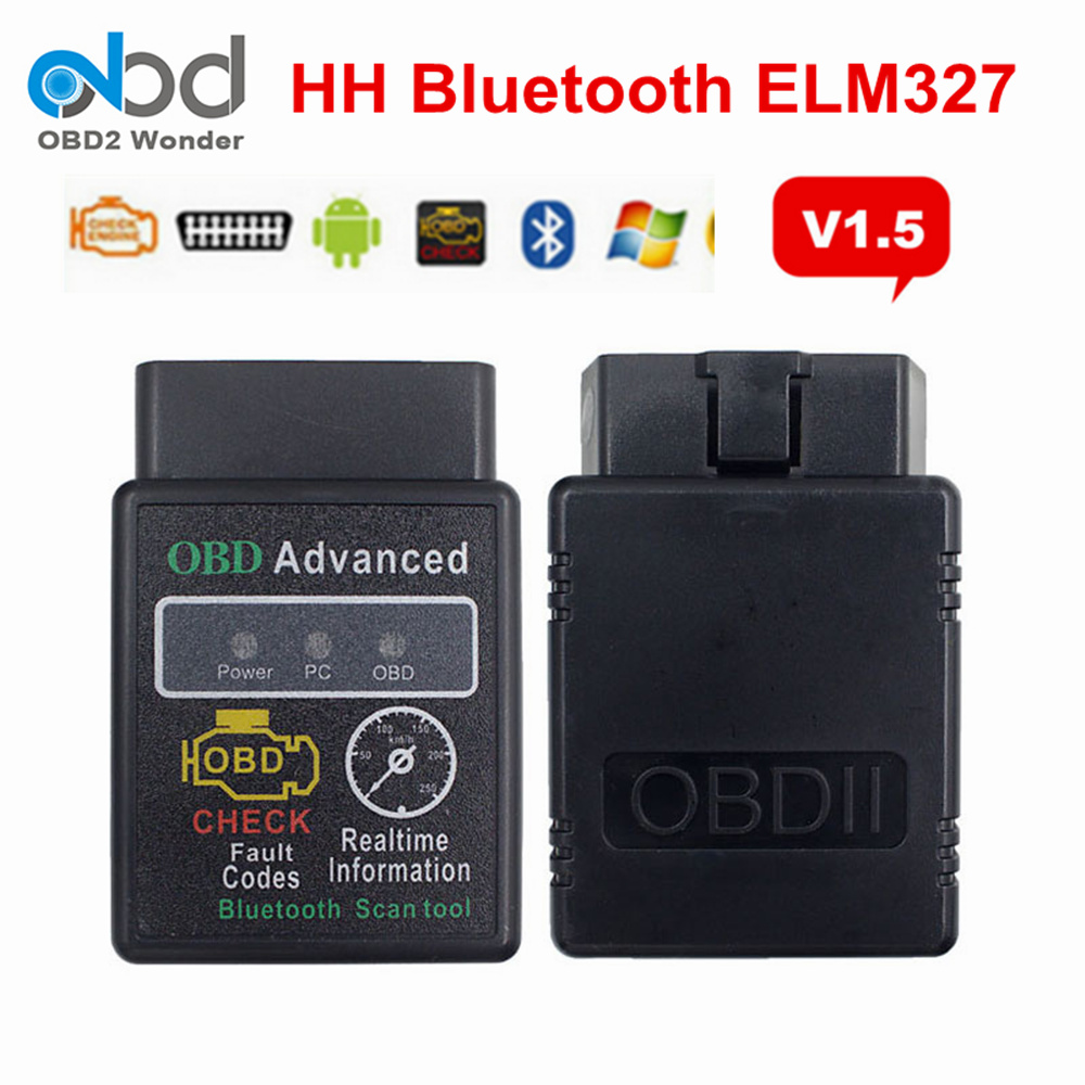 Erweiterte HH OBD <font><b>ELM327</b></font> V1.5 Interface ULME 327 <font><b>Mini</b></font> <font><b>Bluetooth</b></font> Android Windows Drehmoment Hardware 1,5 OBD II Diagnose Scanner Werkzeug image