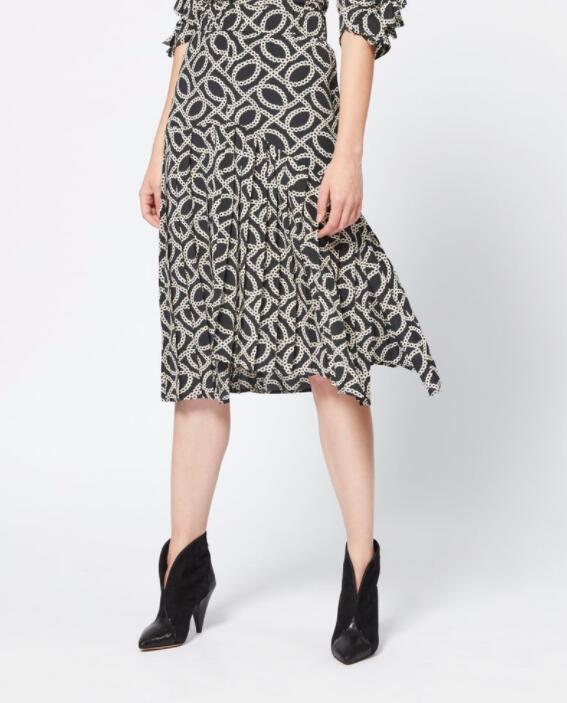 Inaya Skirt De Falda Estampado Faldas Elástico Cadena Midi And En Skirt top Pliegues La top Mujer Moda Nuevo Seda Top Skirt Cintura 2019 Asimétrica pink Con FrFq4xwnC