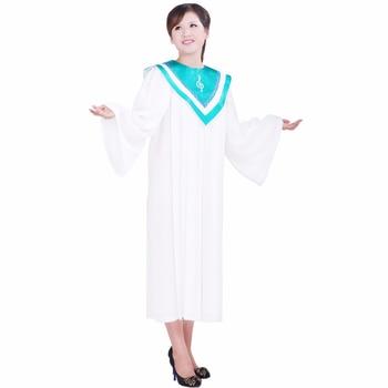 Christian Church Choir long gown Robes church clothing TIMELESS women Custom RT Clergy Robe Light green white Custom Size