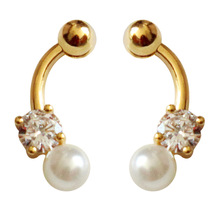 2019 New Hot Fashion 925 Needle Pearl Cubic Zirconia Popular Simple Drop Earrings For Women Gorgeous Jewelry 3314