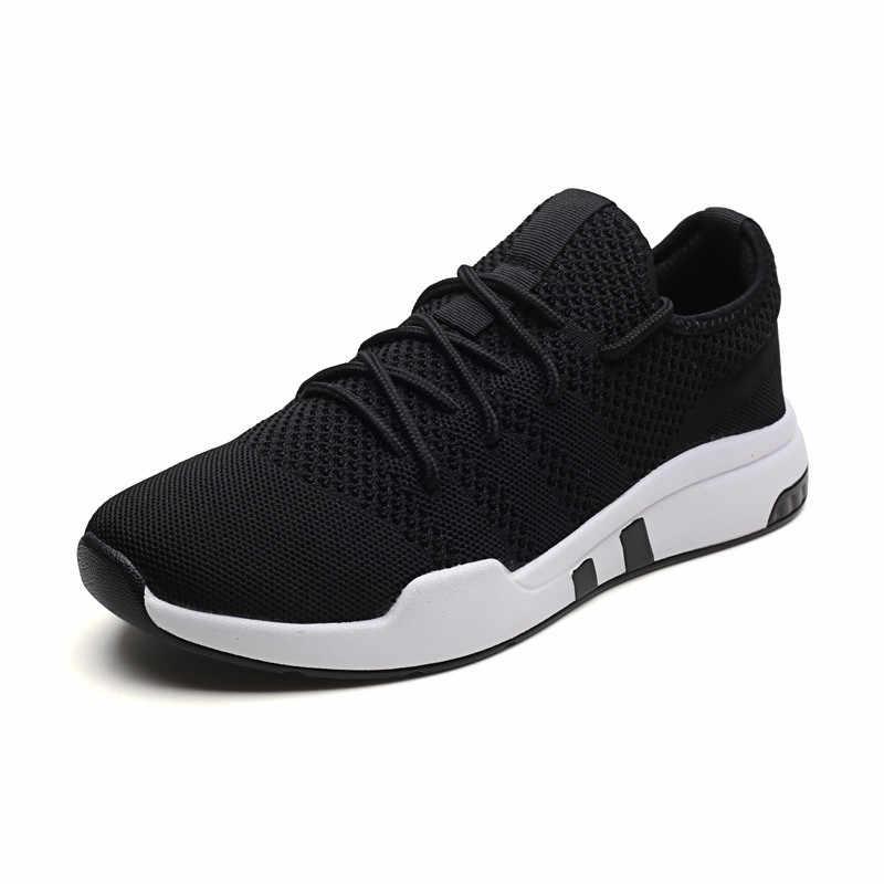 2019 Новое поступление, плетеные туфли, мужская повседневная обувь, размер 39-44, мужские модные кроссовки, весенне-Осенняя обувь, 3 цвета