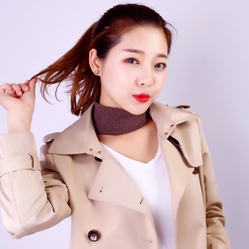 BELIARST 2019 Autumn And Winter Cashmere Collar Women's Knitted Collar Head Cover Neck Warm Scarf Solid Color Wild Fake Collar