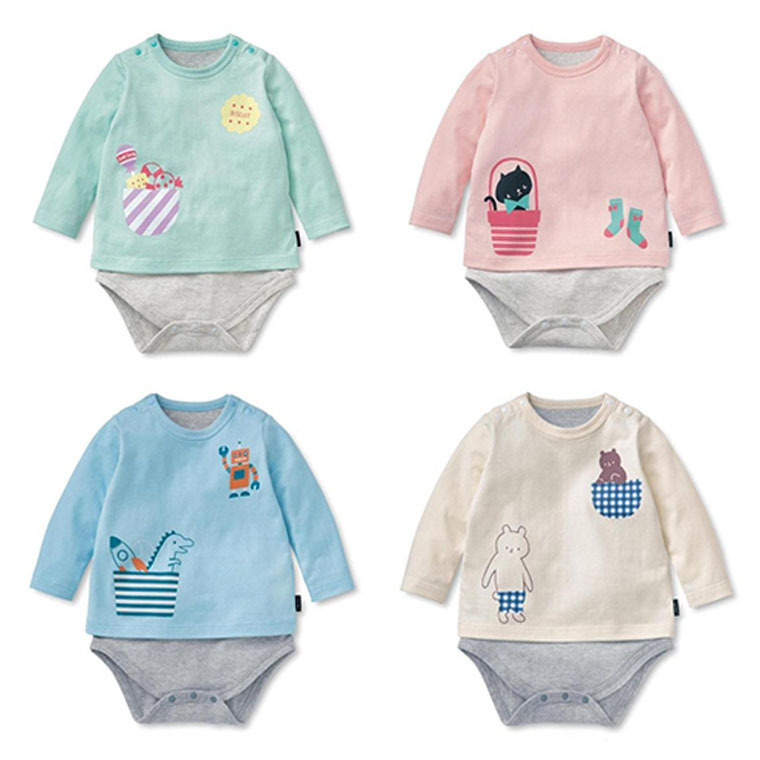Long Sleeves Baby Girls Infant Jumpsuit Summer Baby Clothing Fashion Triangle O-neck Romper Bebe Newborn Body Baby Clothes