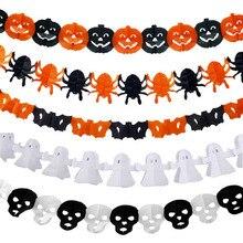 hot sale paper chain garland halloween decoration pumpkin ghost shape halloween party decor props supplies
