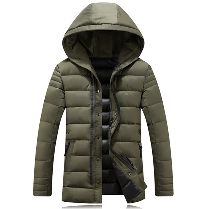 Special offer hot 2017 winter men's Hooded Jacket padded down European style in the long section of men's cotton padded jacket m