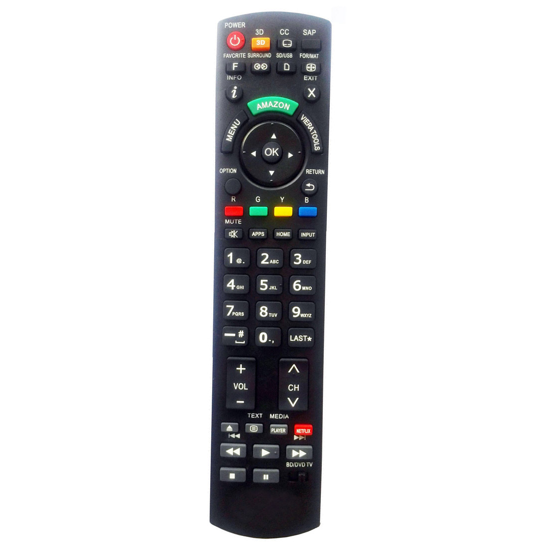 NEW TV Universal Remote For Panasonic EUR7627Z20 N2QAYB000100 N2QAYB000221