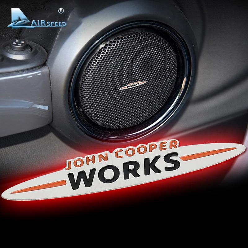 Скорость мини-ЮПК эмблемы автомобиля наклейки динамиков стикер интерьер ремонт для мини Купер Джон Купер работает автомобиль-стайлинг земляк