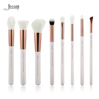 Jessup White Rose Gold Professional Makeup Brushes Set Make Up Brush Tools Kit Foundation Stippling Natural