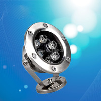 3W LED Underwater Light For Swimming Pool Or Fountain Single Color Stainless Steel IP 68 Protection