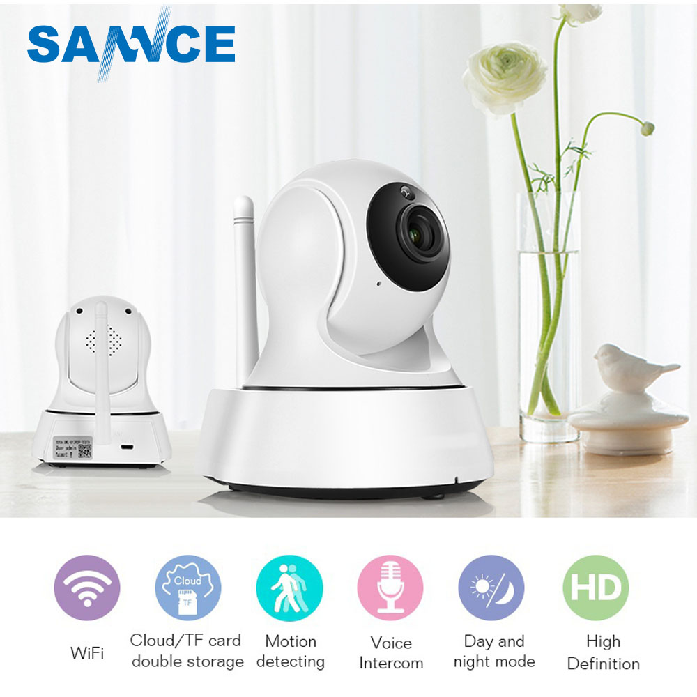 SANNCE 720 p HD IP Kamera Nachtsicht IR-Cut Filter Indoor Wireless 1MP H.264 Zwei-Weg Audio überwachung CCTV Sicherheit Kamera