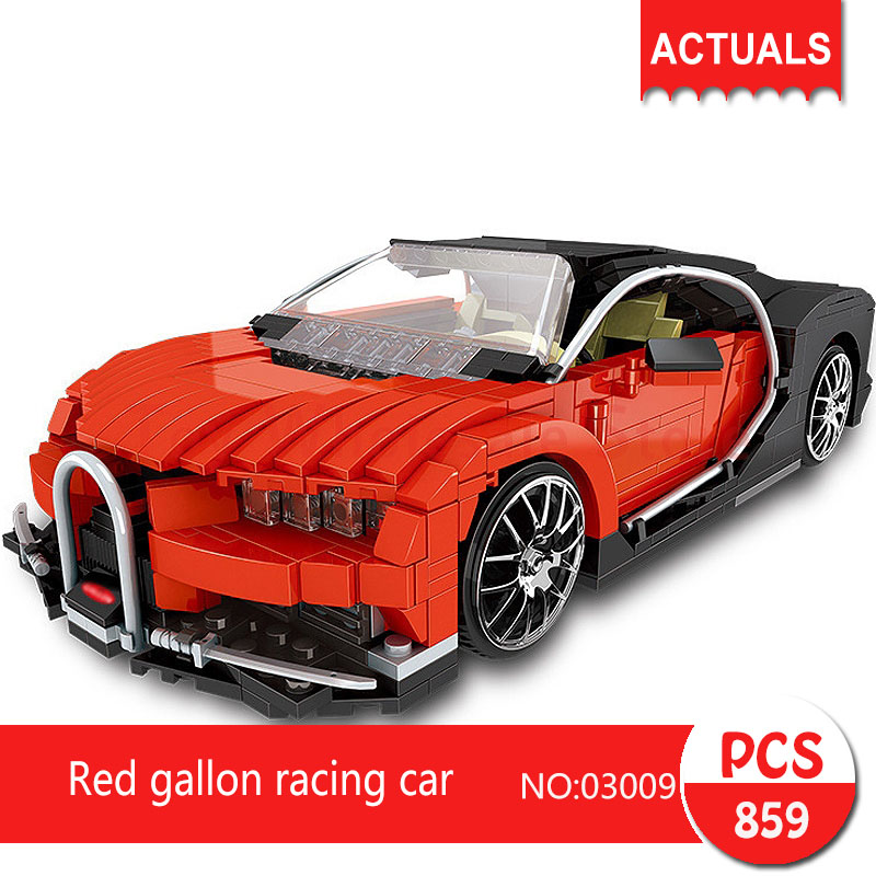 Lepin 03009 859Pcs Technic Series Red gallon racing car Model Building Blocks Set  Bricks Toys For Children Gift lepin 20031 technic the jet racing aircraft 42066 building blocks model toys for children compatible with lego gift set kids