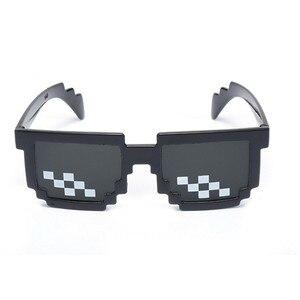 Солнцезащитные очки MLG Pixelated Kids Thug Life Deal with It очки для вечеринки мозаичные винтажные очки Панк рейв наряд Новинка Gag Toys