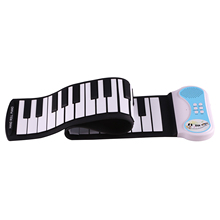 SEWS-Professional 49 Keys Silicon Flexible Hand Roll Up Piano Portable Electronic Keyboard Organ Musical Instrument Gift for C