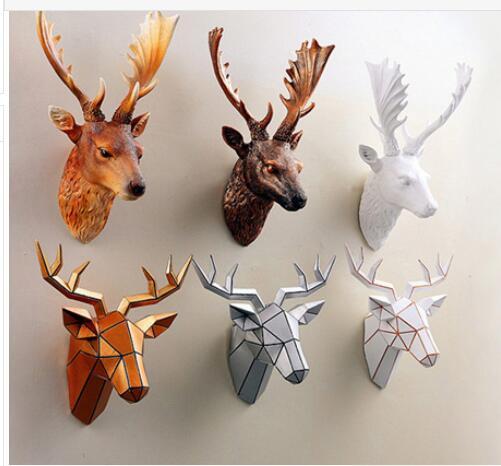 меблі позолочена смола голова оленя - Домашній декор