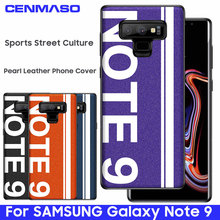 For SAMSUNG Note 9 Case Original Sports Street Culture Pearl Leather Soft Edge Protector for Samsung Galaxy Note 9 Back Cover