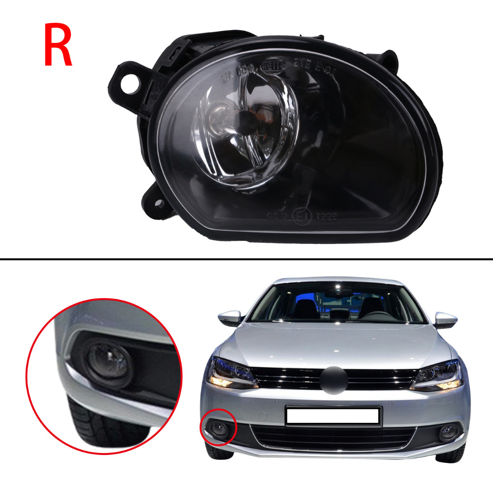Right Side Front Bumper Clear Lens Fog Lights FogLamp with Bulbs For Audi A8 Quattro 2005 2006 2007 Car Lighting .#PDK583-R for opel astra h gtc 2005 15 h11 wiring harness sockets wire connector switch 2 fog lights drl front bumper 5d lens led lamp