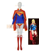 Supergirl 52 Custom Female Superhero Costume For Halloween Cosplay Costume The Most Popular Women Dress Free Shipping
