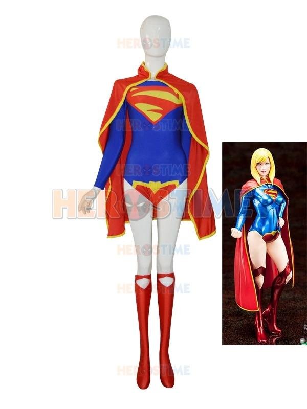 Supergirl 52 encargo mujer traje de superhéroe para Halloween Cosplay traje  el más popular vestido de las mujeres del envío gratis 6db30c1cb9ca