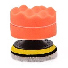 цена на Hot 5pcs/lot 4 Sponge Polishing Pad Set Buffing Waxing Pad Drill Adapter Kit for Car Polisher Cleaning Washing Tools