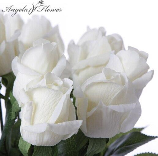 Vivi Настоящее сенсорный Искусственный шелк бутон розы свадебные декоративные цветы букет украшения дома для Свадебная вечеринка или подарок на день рождения