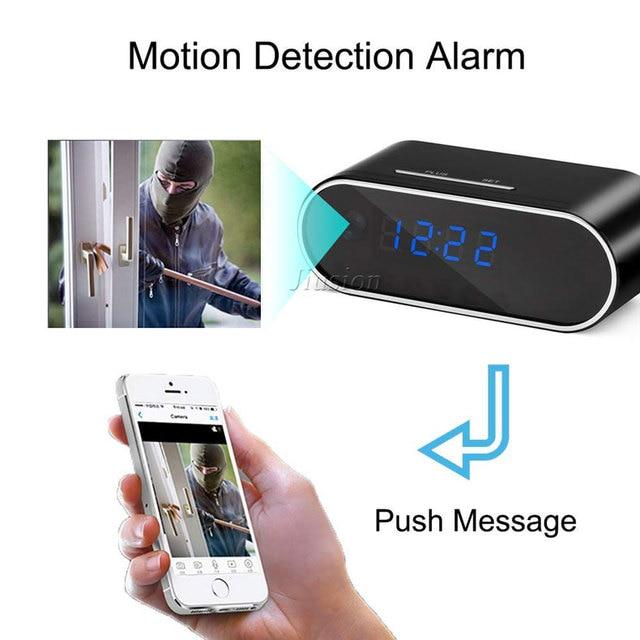 H.264 WiFi Table Clock Mini Camera 1080P HD IP P2P DVR Camcorder Alarm Set Night Vision Motion Sensor Remote Monitor Micro Cam 1