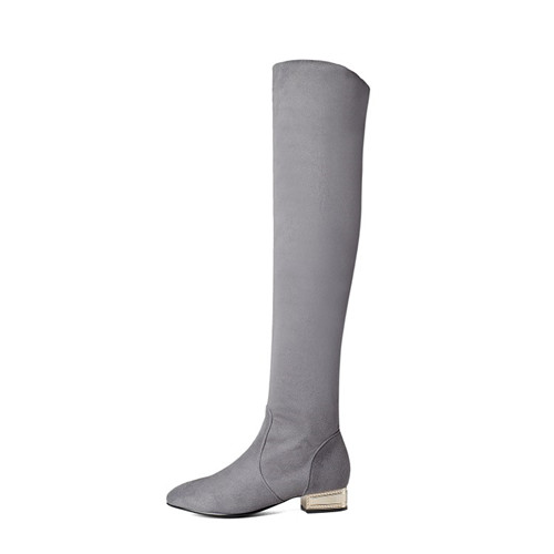 Thigh High Boots Low Heel Promotion-Shop for Promotional Thigh ...