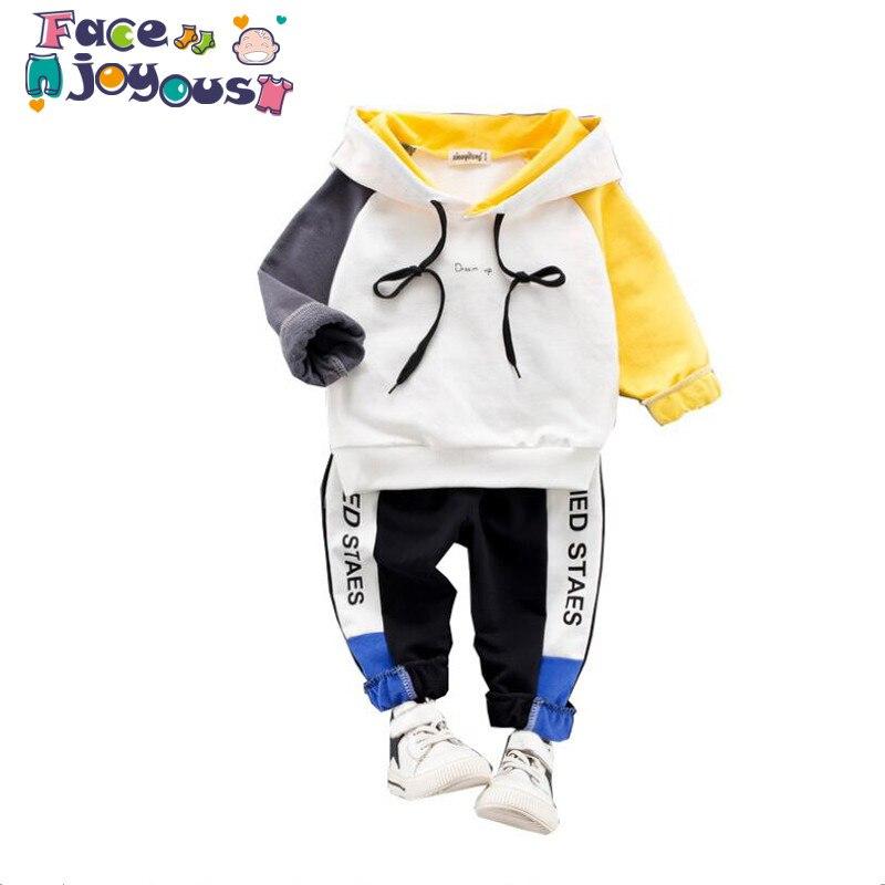 1f7db5961 Facejoyous Crianças Primavera Roupas Terno Dos Esportes Para Meninos E  Meninas Encapuzados Outwears Manga Longa Meninos