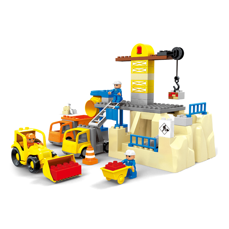 Large Construction Toys For Boys : Pcs building site blocks set machineshop truck toys diy