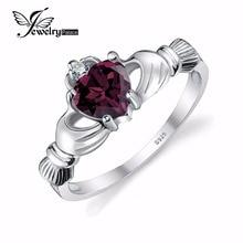 Jewelrypalace alejandrita sapphire claddagh irish anillo sólido 925 plata esterlina de la manera joyería del corazón del amor de la amistad