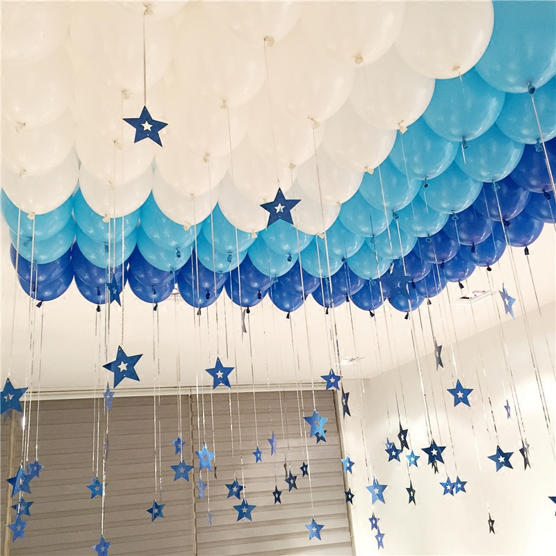 10 inch Light Blue Latex Balloons Happy Birthday Decoration Wedding Balloons Baby Shower Inflatable Toys Air Balls Marriage 5pcs