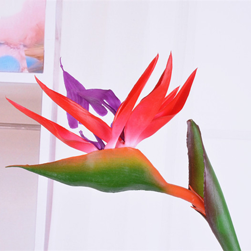 High Simulation Artificial Flower Fake Strelitzia Vivid Home Wedding Party Decoration UEJ