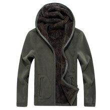 Męskie ciepłe kurtki zimowe wiatrówka termiczna odzież sportowa Zip grube bluzy z polaru bluzy męskie płaszcze z kapturem mężczyzn 6XL 7XL 8XL