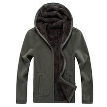 Mens Winter Warm Jackets Thermal windbreaker Sportswear Zip Thick Fleece Hoodies Sweatshirts Male Hooded Coats Men 6XL 7XL 8XL