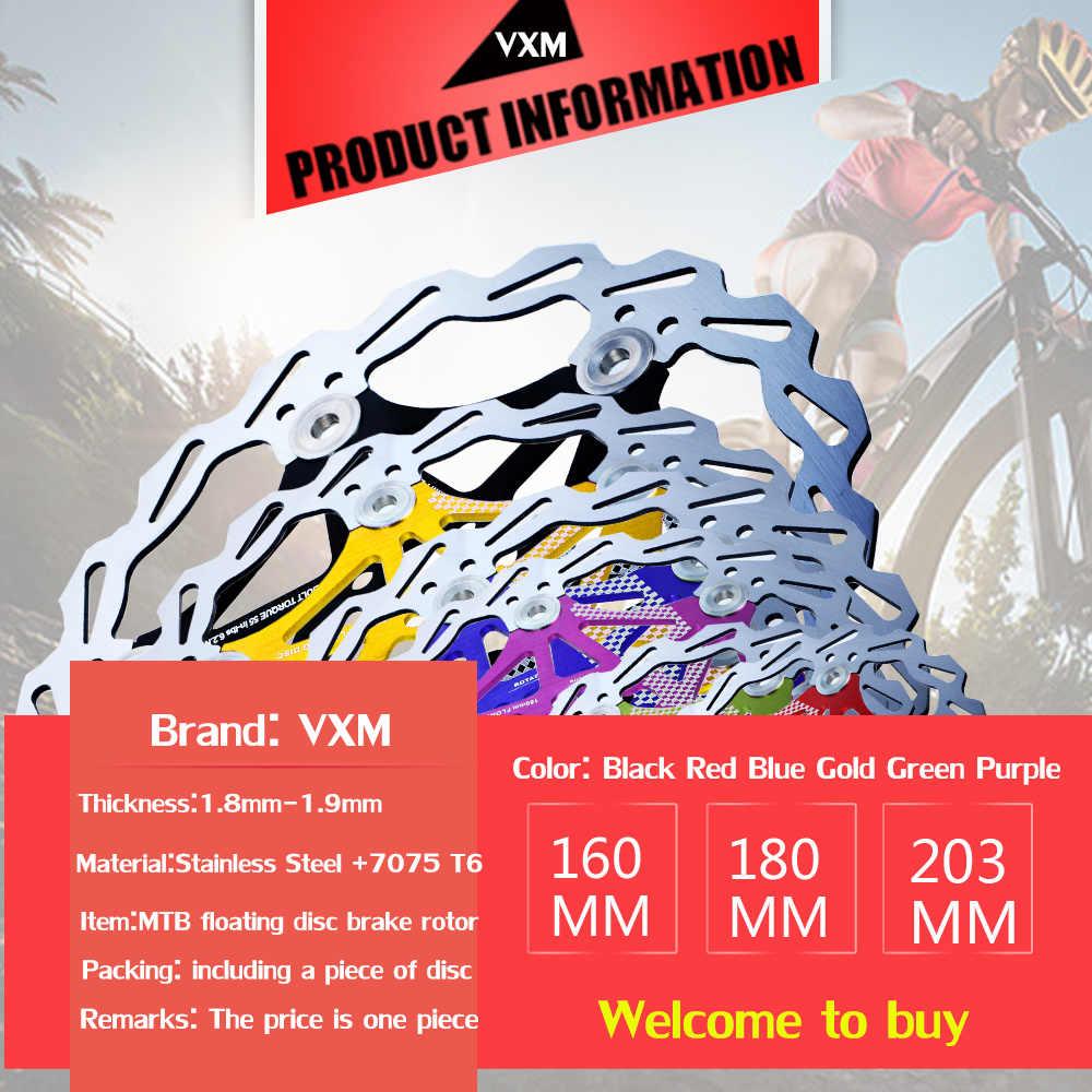 VXM frein de vélo 160mm/180mm/203mm frein à disque vtt DH disques Rotors frein hydraulique flotteur multicolore plaquettes de frein pièces de vélo