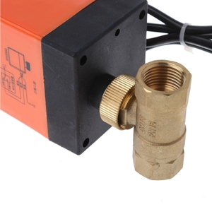 Image 3 - صمام كروي نحاسي بمحرك كهربائي DN15 التيار المتناوب 220 فولت ثنائي الاتجاه 3 أسلاك مع مشغل