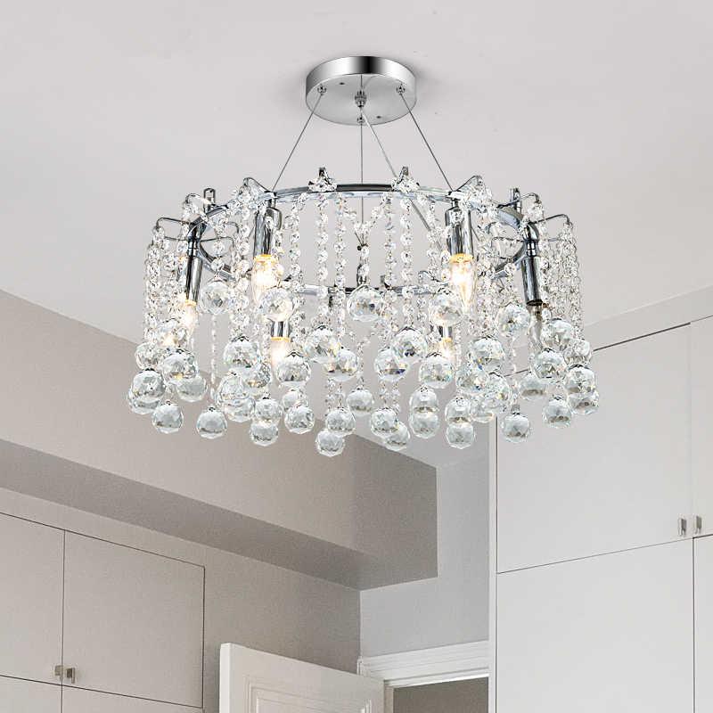Новые хрустальные люстры подвесные светильники Светодиодный Люстра с кристаллами Chanderlier кулон для столовой гостиной отеля kristal avize