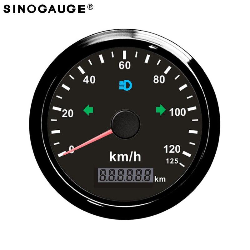 Бесплатная доставка! GPS Спидометр Черный мотоцикл 125 км/ч 85 мм общий пробег Регулируемый Водонепроницаемый IP67 GPS антенны провода включены