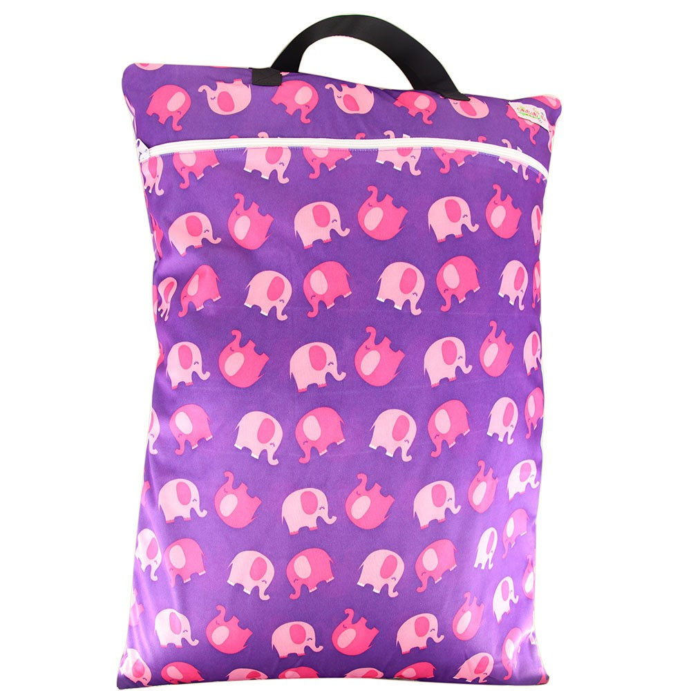 Waterproof Large Hanging Wet/Dry Bag With Cloth Diaper Inserts Nappy Reusable Baby Bags For Mom Pocket Wet Bag With Two Zippered