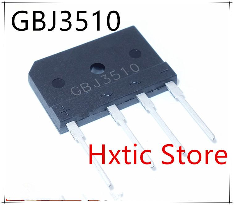 5PCS GBJ 3510 GBJ3510 35A 1000V BRIDGE RECTIFIER New Original Free Shipping